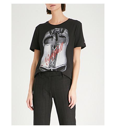 A.F.VANDEVORST A.F.VANDERVORST x B. Åkerlund organic cotton-jersey T-shirt (Black