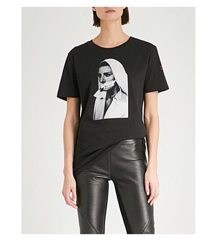 A.F.VANDEVORST Nun cotton-jersey T-shirt (Black