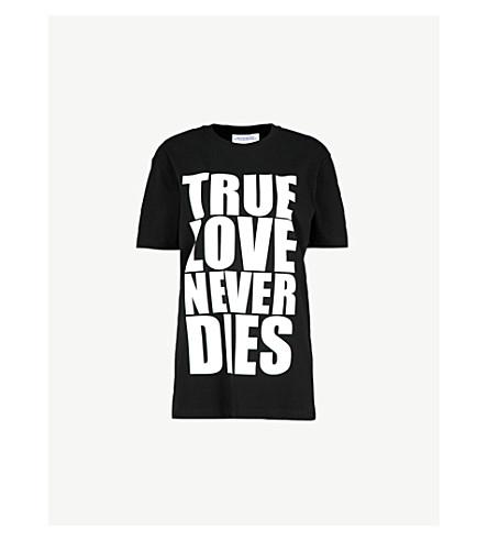 GARETH PUGH True Love print cotton-jersey T-shirt (Black