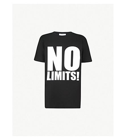 GARETH PUGH No Limits print cotton-jersey T-shirt (Black