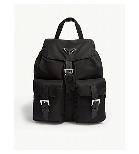560fe3cc22b7 PRADA - Logo small nylon backpack