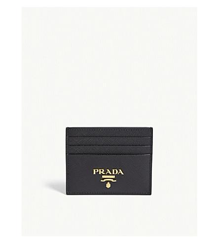PRADA Classic Saffiano leather card holder (Black