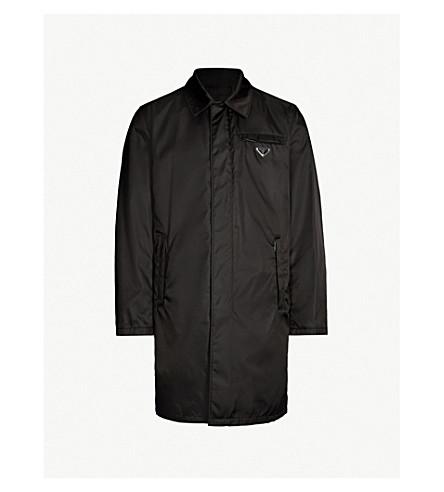 PRADA Logo tab nylon coat (Nero