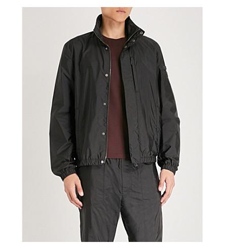 PRADA Elasticated-trims nylon jacket (Nero