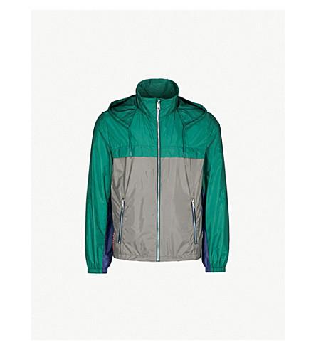 PRADA Two-tone hooded nylon jacket (Abete+ferro