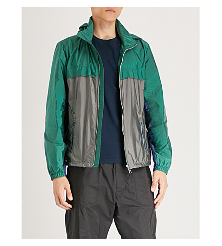 PRADA Two-tone hooded nylon jacket (Abete+ferro