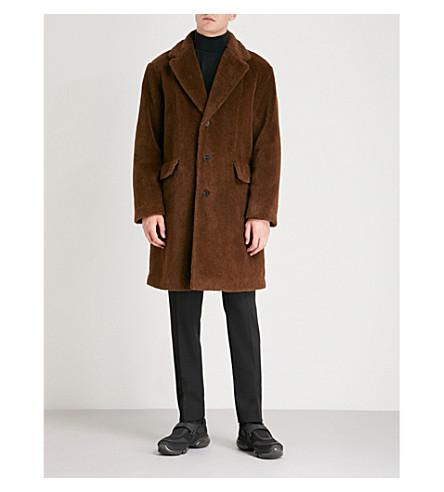 PRADA Alpaca and cotton-blend coat (Tabacco