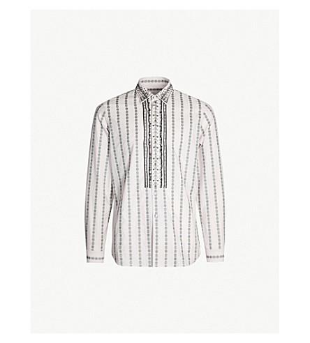 PRADA 铆钉缀饰常规版型棉衬衫 (Cammeo