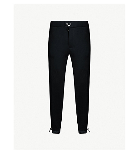PRADA Contrast-panel cotton-blend jogging bottoms (Nero