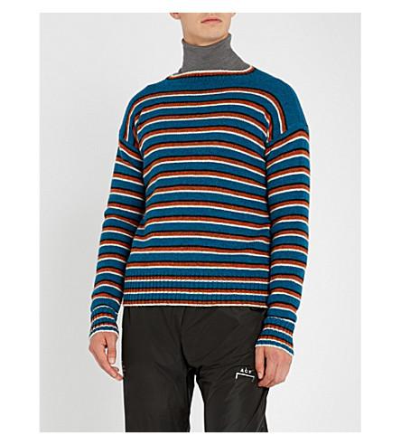 PRADA 兰地条纹羊毛毛衣 (Turchese