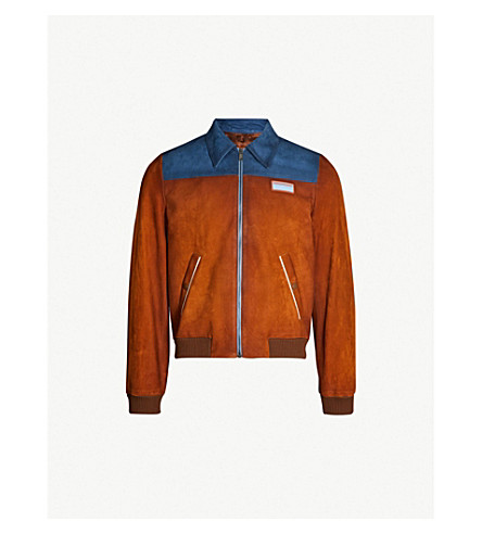 PRADA Two-tone suede bomber jacket (Multi-coloured