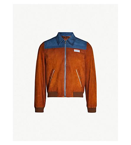 PRADA Two-tone suede bomber jacket (Multi-coloured