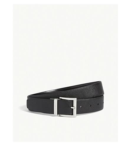 PRADA可逆皮带 (黑色 + 黑色