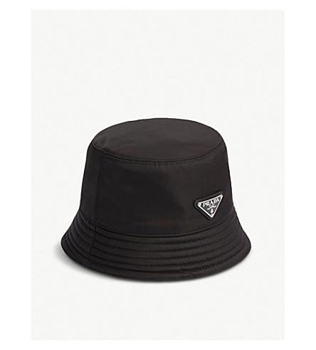 PRADA - Logo-plaque nylon bucket hat  023691566df