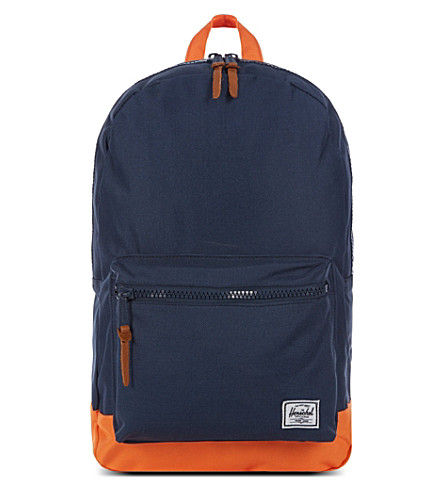 HERSCHEL Polka-dot Settlement backpack (Navy / mandarin