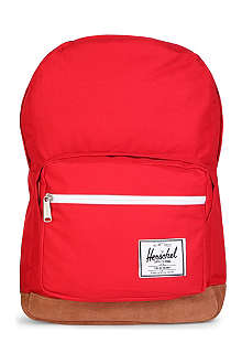 HERSCHEL Pop Quiz canvas and suede backpack