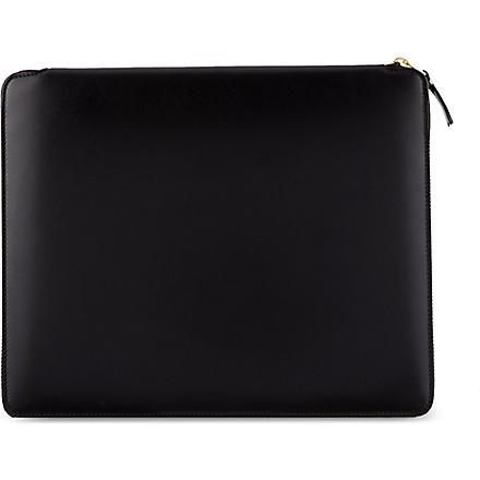 COMME DES GARCONS Classic leather document holder (Black