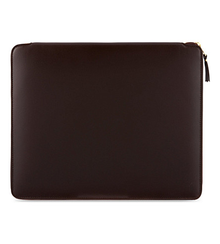 COMME DES GARCONS Classic leather document holder (Brown
