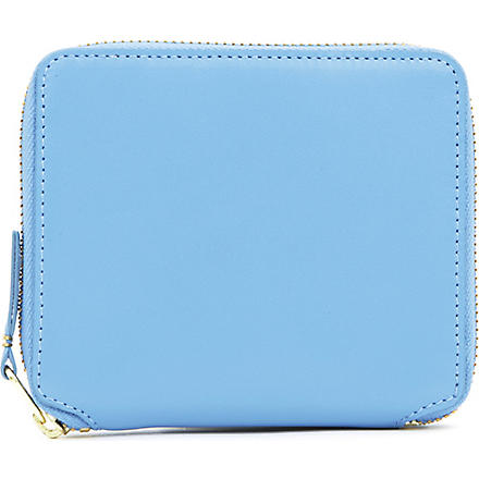COMME DES GARCONS Leather full-zip wallet (Blue