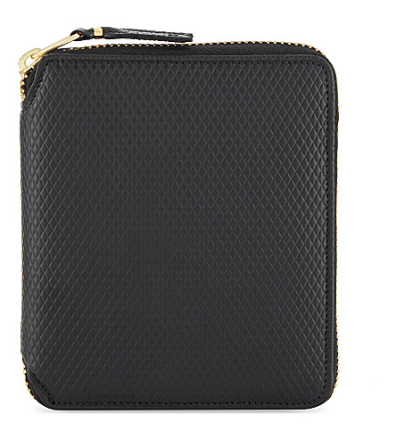 COMME DES GARCONS Leather zip-around wallet (Black