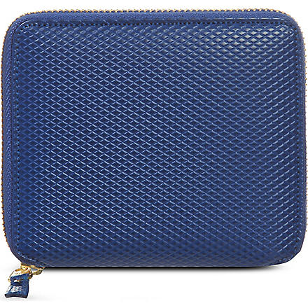 COMME DES GARCONS Half zip leather wallet (Blue