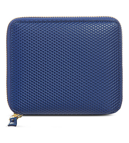 COMME DES GARCONS Leather zip-around wallet (Blue