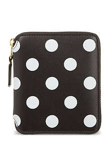 COMME DES GARCONS Polka-dot print wallet