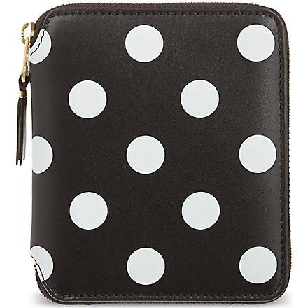 COMME DES GARCONS Polka-dot print wallet (Black