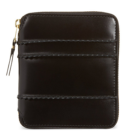 COMME DES GARCONS Spiked leather wallet (Black