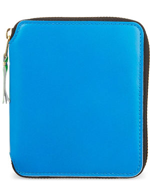 COMME DES GARCONS Superfluorescent zip around leather wallet