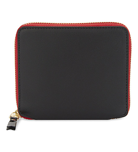 COMME DES GARCONS Tongue and teeth leather wallet (Multicolour