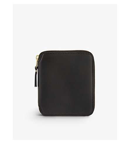 COMME DES GARCONS Zip-around leather wallet (Black