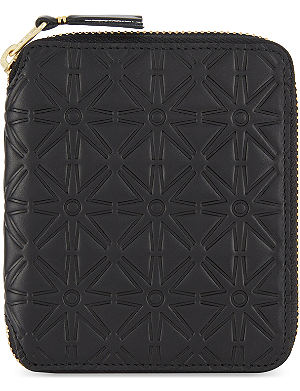 COMME DES GARCONS Embossed zip-around wallet