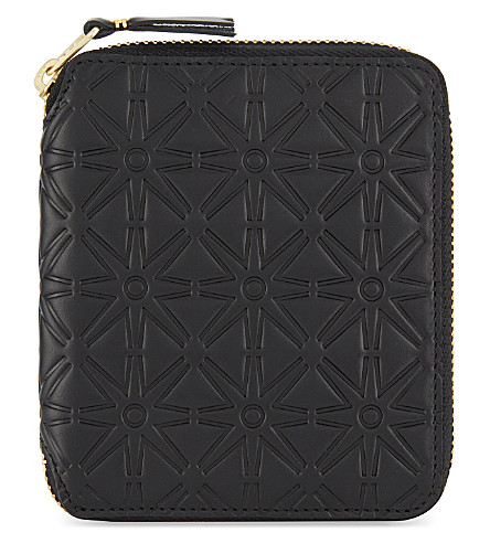 COMME DES GARCONS Embossed zip-around wallet (Black