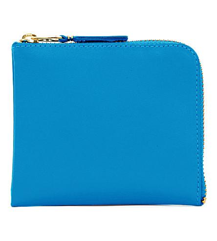 COMME DES GARCONS Half-zip wallet (Blue