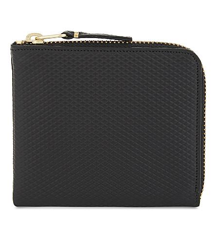 COMME DES GARCONS Leather half-zipper wallet (Black