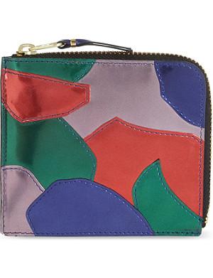 COMME DES GARCONS Metallic patchwork wallet