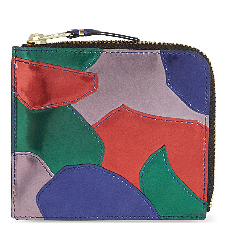 COMME DES GARCONS Metallic patchwork wallet (Multi