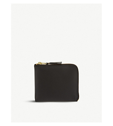 COMME DES GARCONS Leather half-zip wallet (Black