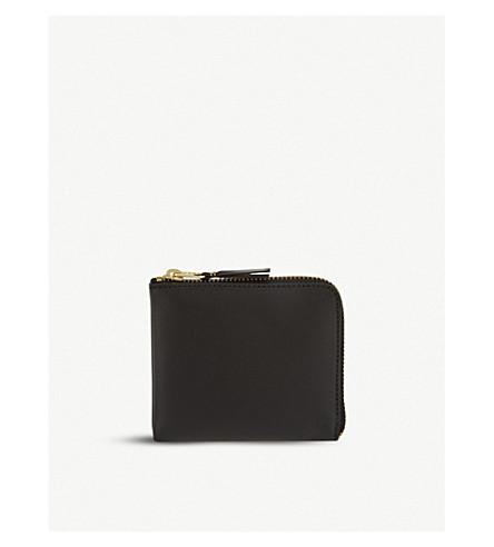 COMME DES GARCONS 皮革半钱包 (黑色
