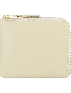 COMME DES GARCONS Leather Half-Zip Wallet