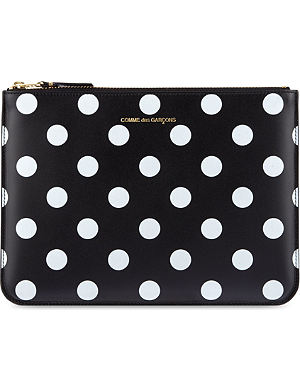 COMME DES GARCONS Polka-dot embossed pouch