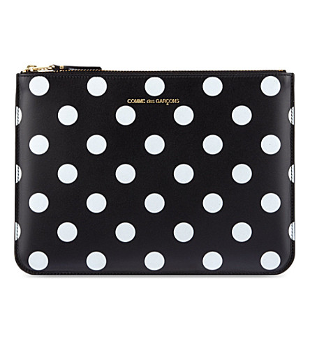 COMME DES GARCONS Polka-dot embossed pouch (Black