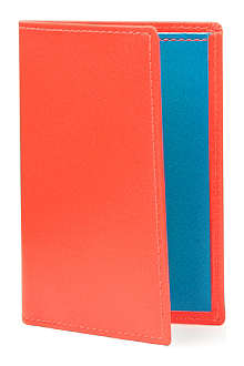 COMME DES GARCONS Fluorescent leather card holder