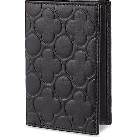 COMME DES GARCONS Embossed card holder (Black