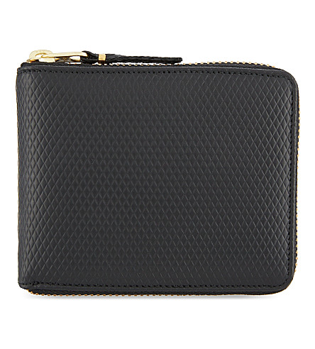 COMME DES GARCONS Leather zipper-around wallet (Black