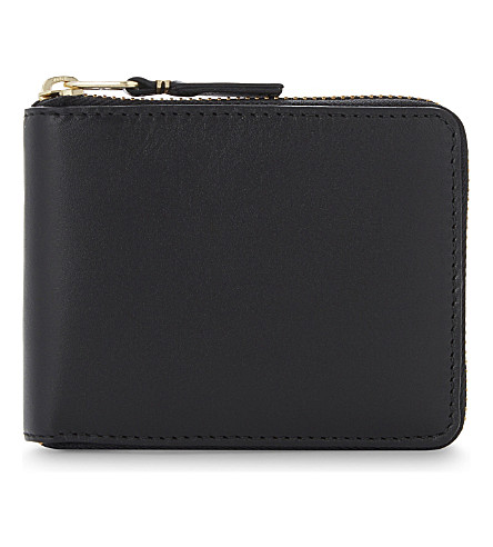 COMME DES GARCONS Leather zip-around wallet (Blk