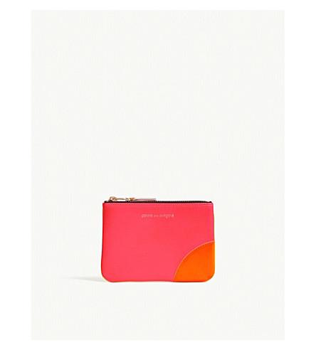 amarillo COMME rosa GARCONS fluorescente DES piel de Estuche super ngaxzRw4q
