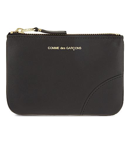 COMME DES GARCONS Small zipped pouch (Black