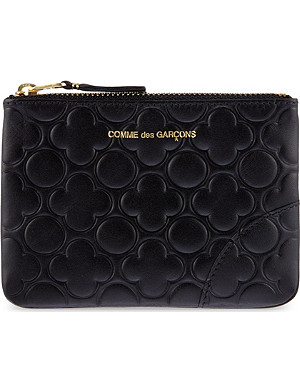 COMME DES GARCONS Embossed leather pouch